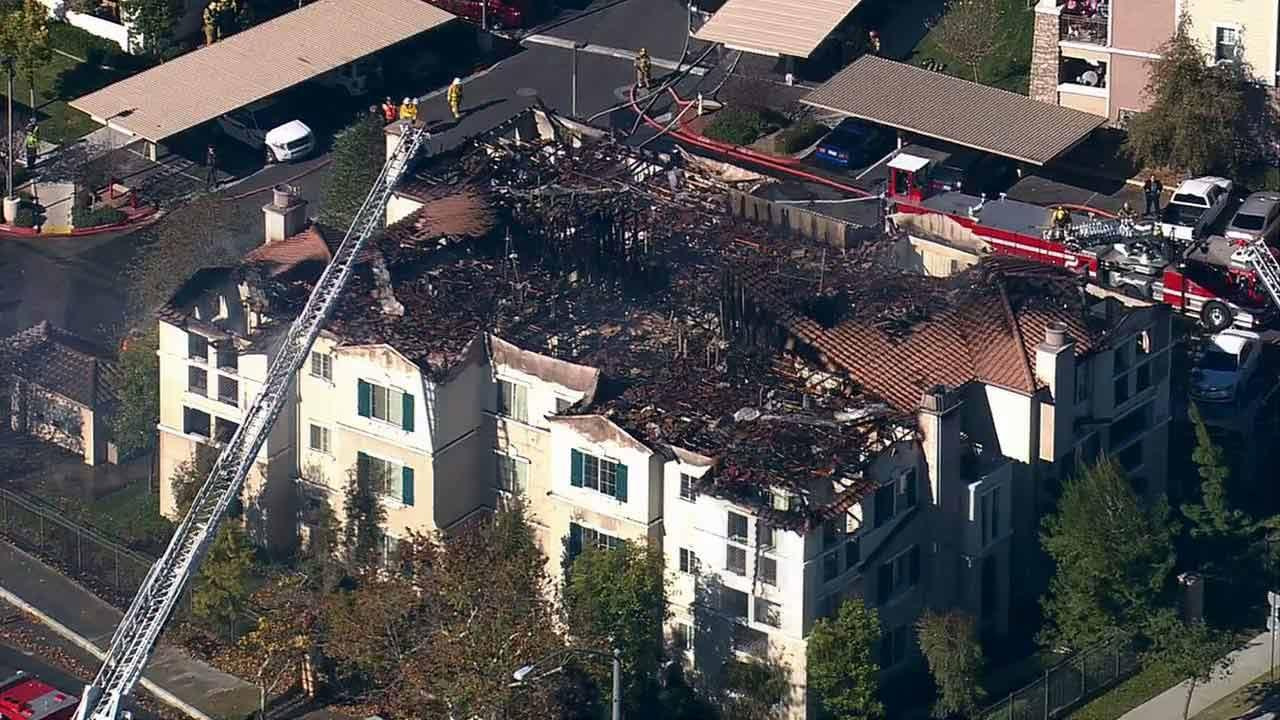 Firefighters responded to the scene of a 12-unit apartment building located in the 12600 block of Memorial Way in Moreno Valley on Monday, Jan. 7, 2012.