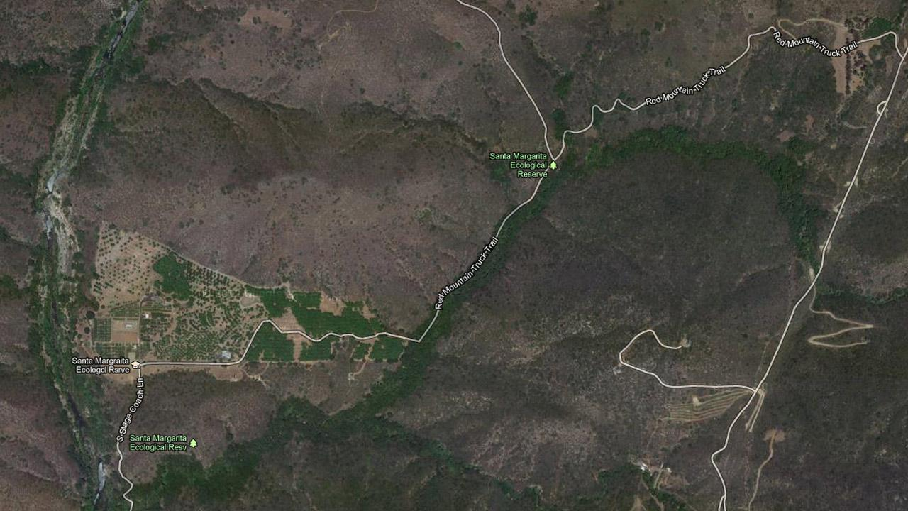 This Google Maps image shows the Santa Margarita Ecological Reserve.