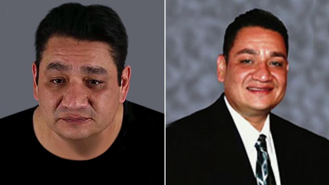 Mike Rios, 42, is shown in these two file images. Rios, a Moreno Valley Unified School District board member, was found guilty of pimping, insurance fraud, and pandering on Friday, Feb. 8, 2013.