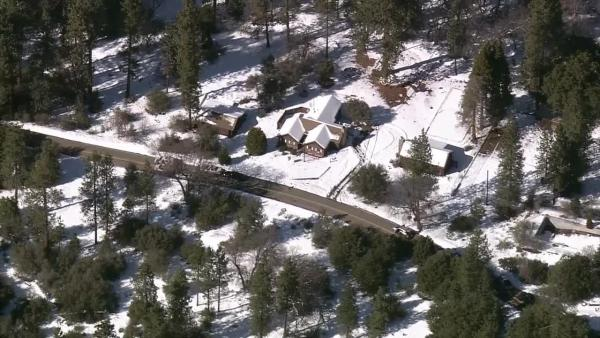 Authorities respond to a possible Chris Dorner sighting in the Big Bear area on Tuesday, Feb. 12, 2013.