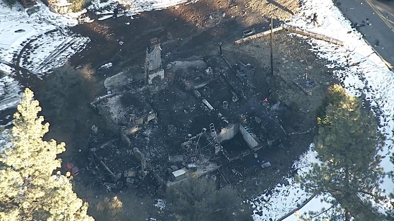 A Big Bear-area cabin where fugitive Chris Dorner is believed to have died on Wednesday, Feb. 13, 2013, day after the structure went up in flames.