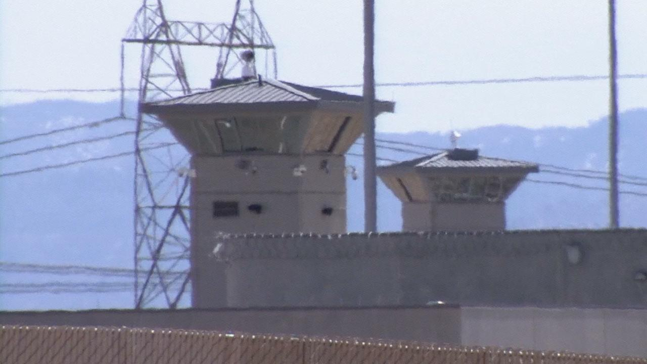 Guard towers at the Victorville Federal Correctional Complex in March 2013.