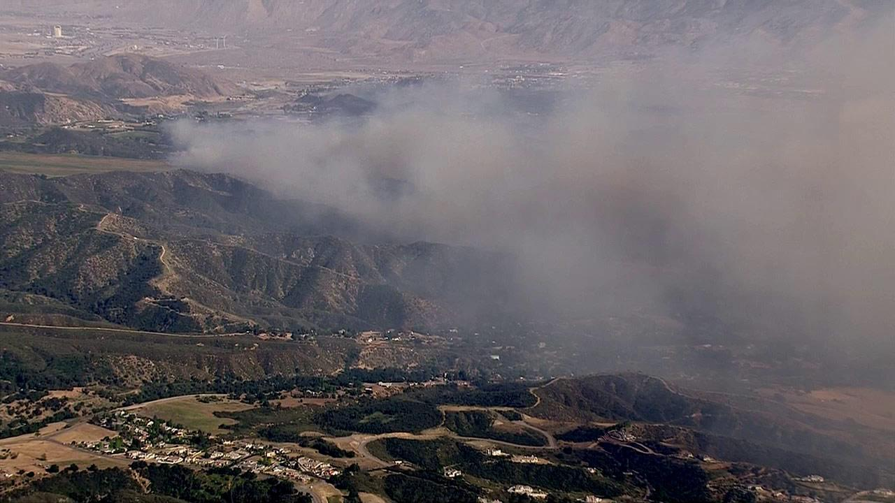 A fast-moving brush fire erupted in Banning in Riverside County on Wednesday, May 1, 2013.
