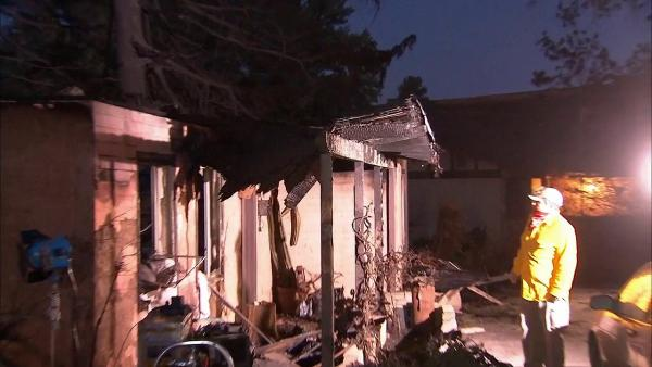 A brush fire broke out in Banning, destroying one home on Wednesday,