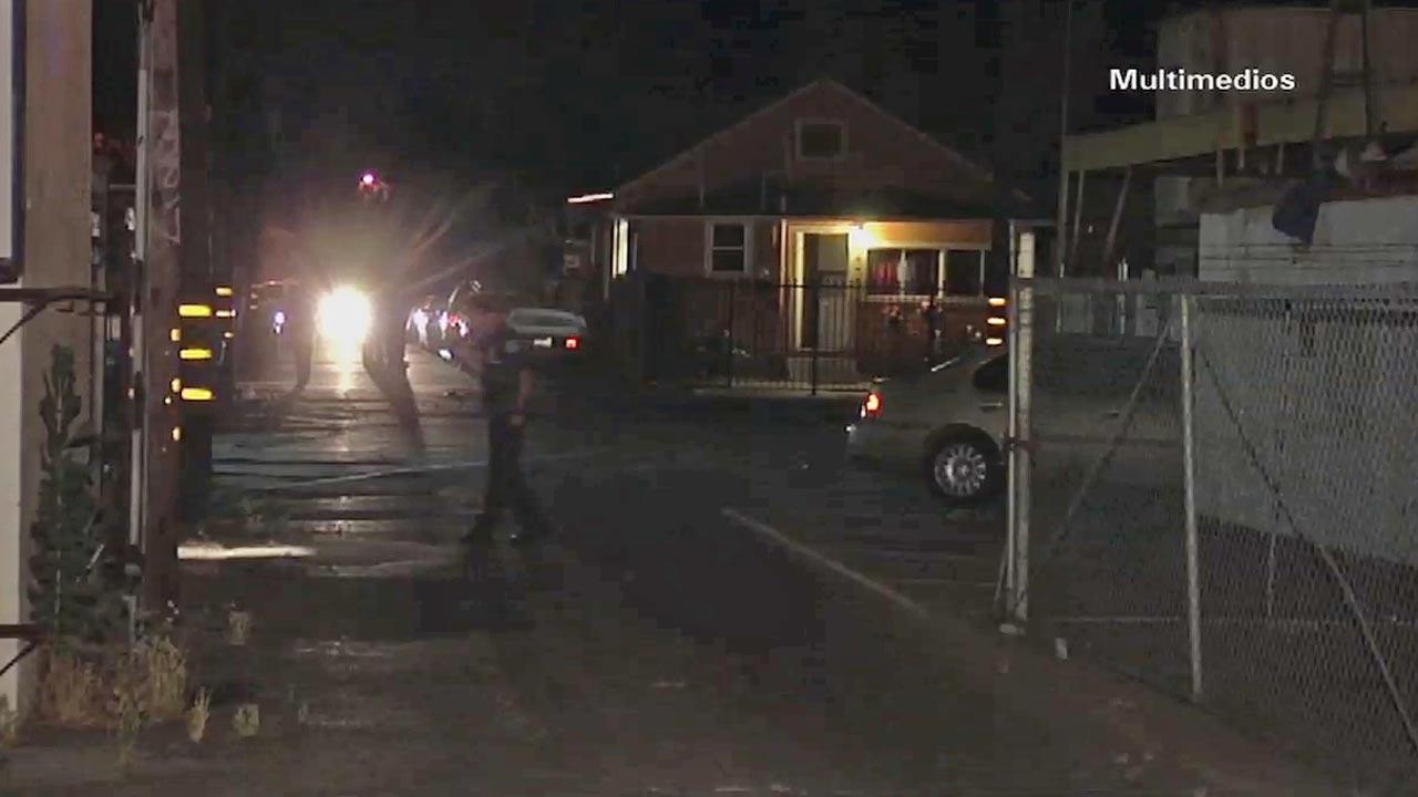 A man was fatally shot on the 100 block of West Park Street in Ontario Wednesday, May 15, 2013.