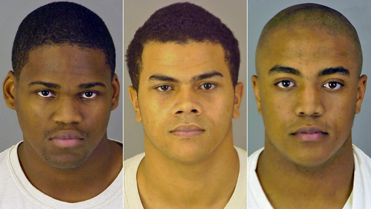 Tyronne Miller, Kevin Cox and Emrys John were found guilty of first-degree murder in the brutual killing of Marine Sgt. Jan Pietrzak and his wife, Quiana Jenkins-Pietrzak, at their home in October 2008.