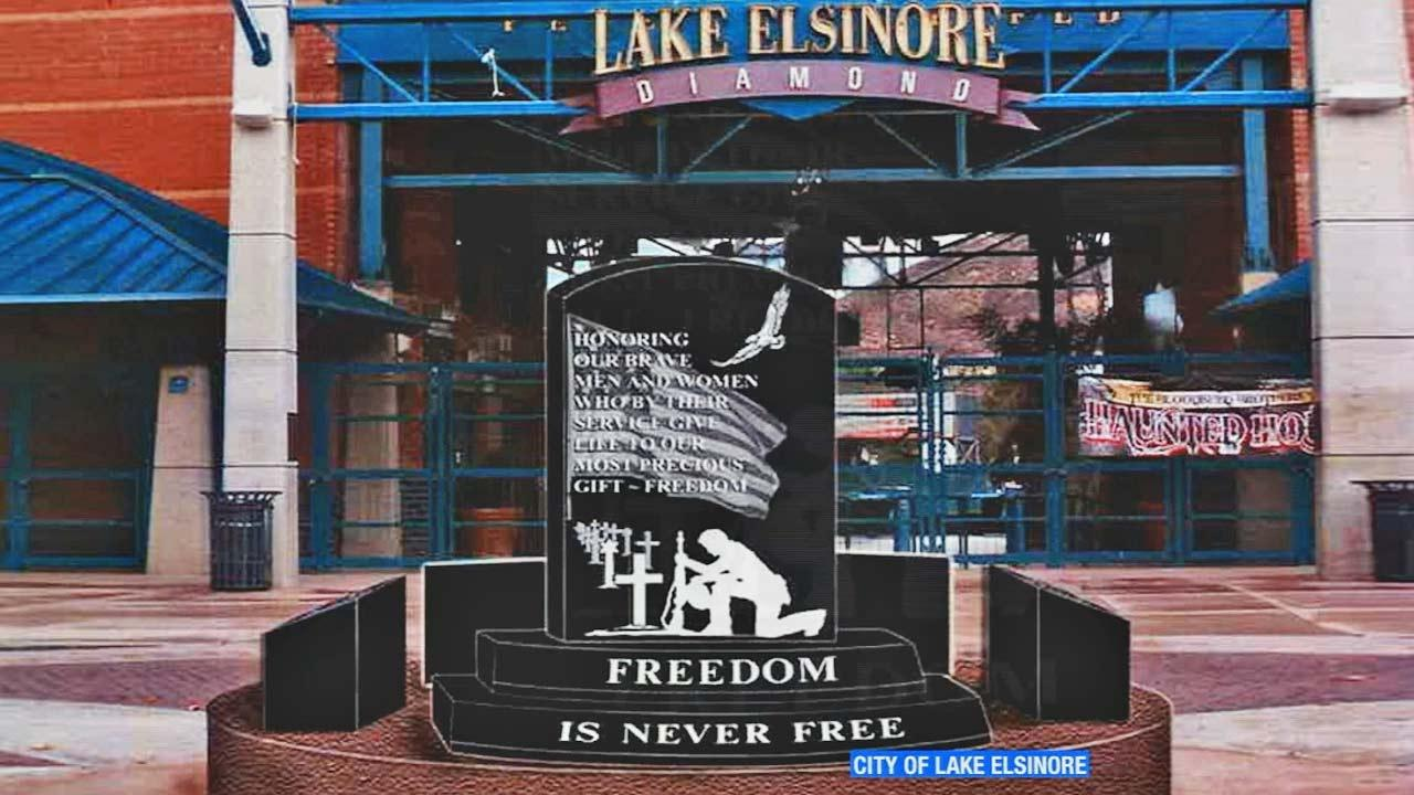 A federal judge ruled against the installation of a veterans memorial at a public stadium in Lake Elsinore Wednesday, July 18, 2013.