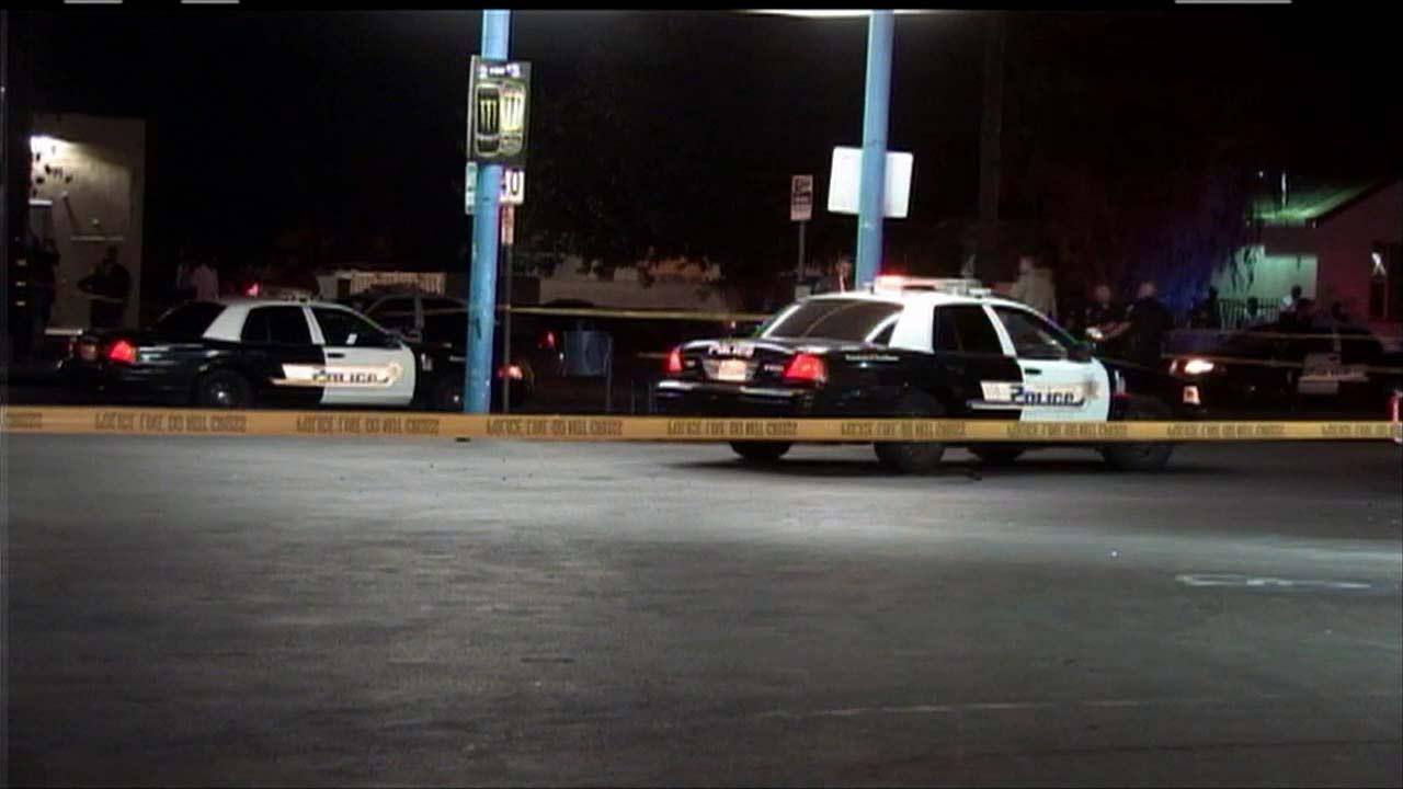 Authorities investigate an officer-involved shooting in San Bernardino Friday, July 26, 2013.