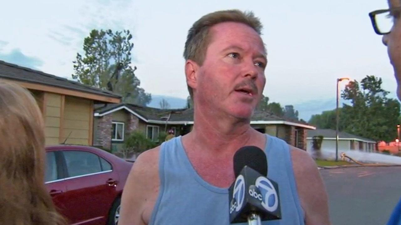 An explosion leveled a home and set at least two others on fire Friday in Riverside. Wayne Keller talks about damage his home sustained following the blast on Friday, Sept. 6, 2013.