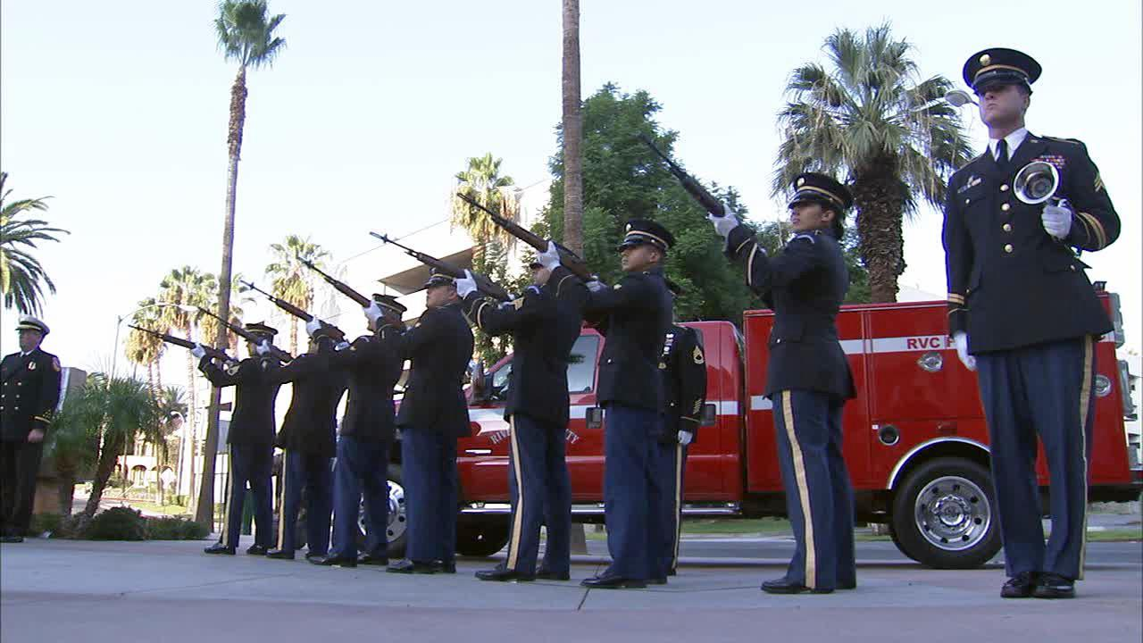 Riverside County supervisors, public safety officials and military personnel gathered outside the County Administrative Center to remember the lives lost in the Sept. 11, 2001 terror strikes.