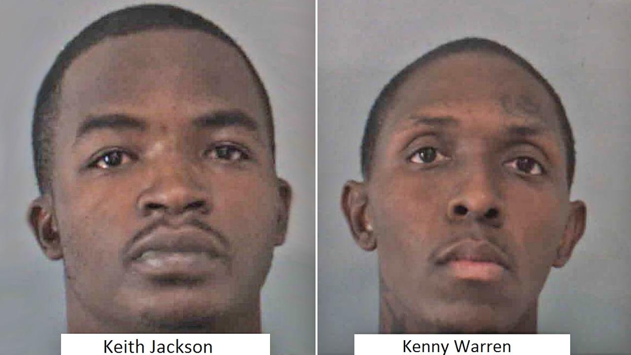 Keith Johnson, 27, Jenny Warren, 26, both of Los Angeles, are shown in a booking photo from the Corona Police Department. Johnson and Warren were arrested for residential burglary on Monday, Oct. 21, 2013.