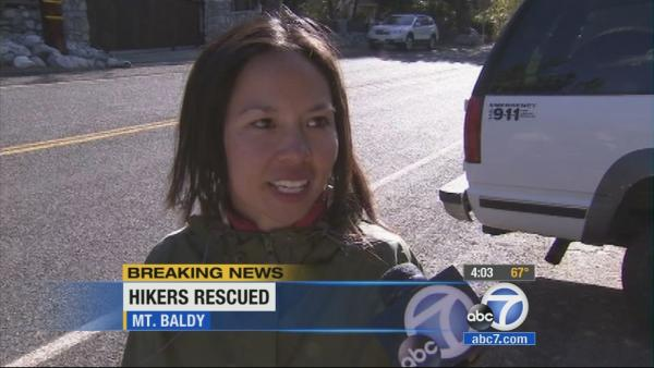 2 hikers spend night on Mt. Baldy, rescued