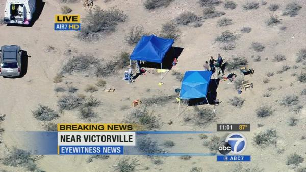 Skeletal remains found in Victorville desert