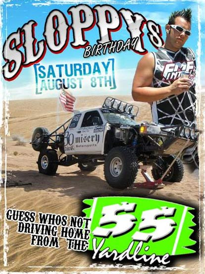 Brett Sloppy, 28, of San Marcos is shown in a promotional poster. Sloppy was the driver of the truck that barreled into the crowd during an off-road race in the Mojave Desert, killing eight people and injuring 12 others on Saturday, Aug. 15, 2010. <span class=meta>(KABC)</span>