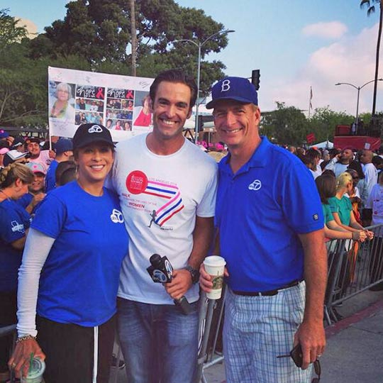 ABC7's Elex Mixhaelson, Leslie Sykes and Phillip Palmer are seen at the Revlon/Run Walk at Exposition Park on Saturday, May 10, 2014.