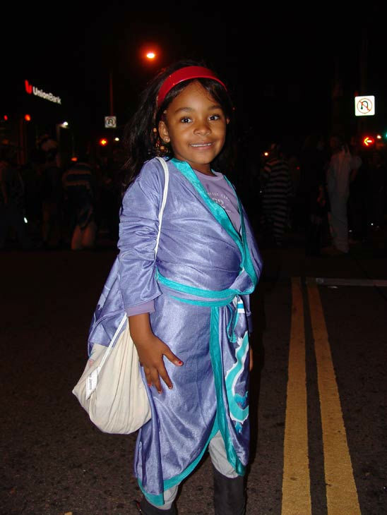 West Hollywood resident Brooke James, 6, attended the West Hollywood Halloween Costume Carnaval on Oct. 31, 2011. This year&#39;s theme was &#39;Become Your Other.&#39; <span class=meta>(KABC Photo&#47; Vicki Gonzalez)</span>