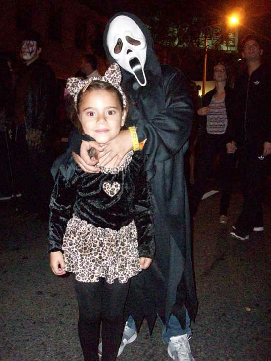 Ruby Mondragon, 5, and Carlos Aguilar, 7, from Los Angeles attended the West Hollywood Halloween Costume Carnaval on Oct. 31, 2011. This year&#39;s theme was &#39;Become Your Other.&#39; <span class=meta>(KABC Photo&#47; Vicki Gonzalez)</span>