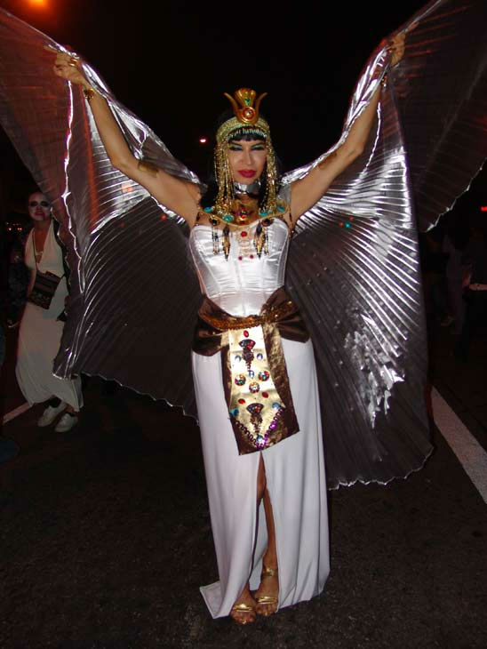 A Southland resident dressed as Cleopatra attended the West Hollywood Halloween Costume Carnaval on Oct. 31, 2011. This year&#39;s theme was &#39;Become Your Other.&#39; <span class=meta>(KABC Photo&#47; Vicki Gonzalez)</span>