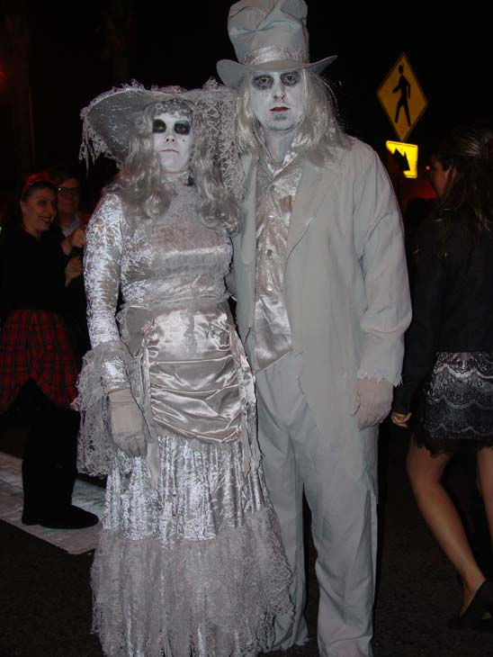 Kimberly and Angelo Luca from Sherman Oaks attended the West Hollywood Halloween Costume Carnaval on Oct. 31, 2011. This year&#39;s theme was &#39;Become Your Other.&#39; <span class=meta>(KABC Photo&#47; Vicki Gonzalez)</span>