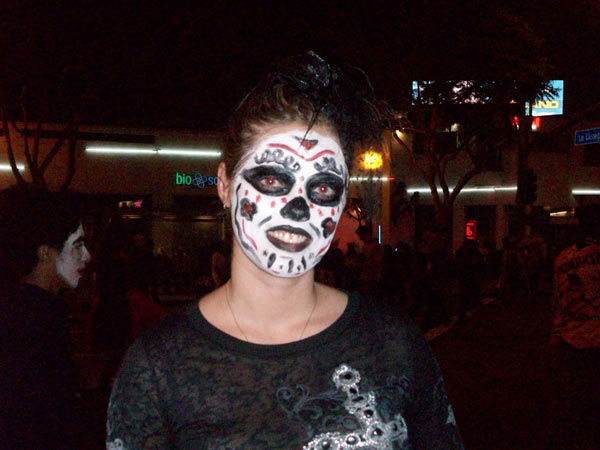 Sarah Jenkins from Palmdale attended the West Hollywood Halloween Costume Carnaval on Oct. 31, 2011. This year&#39;s theme was &#39;Become Your Other.&#39; <span class=meta>(KABC Photo&#47; Vicki Gonzalez)</span>