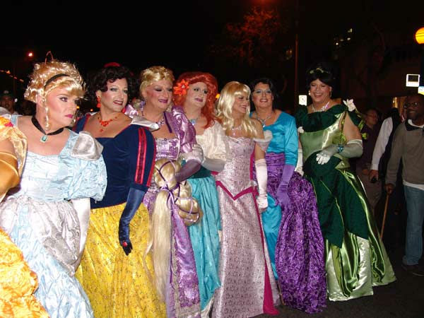 A group dressed as Disney characters attended the West Hollywood Halloween Costume Carnaval on Oct. 31, 2011. This year&#39;s theme was &#39;Become Your Other.&#39; <span class=meta>(KABC Photo&#47; Vicki Gonzalez)</span>