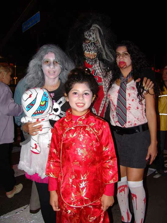 The Marcelo and Rosemary family attended the West Hollywood Halloween Costume Carnaval on Oct. 31, 2011. This year&#39;s theme was &#39;Become Your Other.&#39; <span class=meta>(KABC Photo&#47; Vicki Gonzalez)</span>