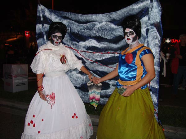 Eli and Edgar from Los Angeles attended the West Hollywood Halloween Costume Carnaval on Oct. 31, 2011. This year&#39;s theme was &#39;Become Your Other.&#39; <span class=meta>(KABC Photo&#47; Vicki Gonzalez)</span>