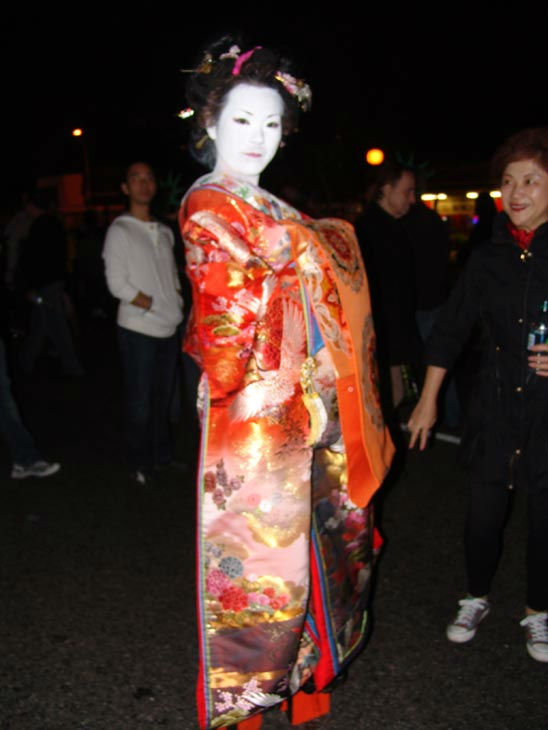 Fumi, visiting from Japan, attended the West Hollywood Halloween Costume Carnaval on Oct. 31, 2011. This year&#39;s theme was &#39;Become Your Other.&#39; <span class=meta>(KABC Photo&#47; Vicki Gonzalez)</span>
