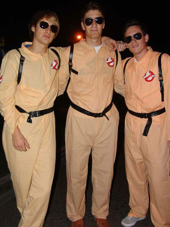 Marvin Bartsd, Thomas Reiss and Simon Racine from Germany and Switzerland attended the West Hollywood Halloween Costume Carnaval on Oct. 31, 2011. This year&#39;s theme was &#39;Become Your Other.&#39; <span class=meta>(KABC Photo&#47; Vicki Gonzalez)</span>