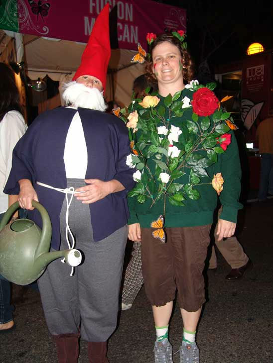 Kerry Castollo and Melinda Elmer from Long Beach attended the West Hollywood Halloween Costume Carnaval on Oct. 31, 2011. This year&#39;s theme was &#39;Become Your Other.&#39; <span class=meta>(KABC Photo&#47; Vicki Gonzalez)</span>