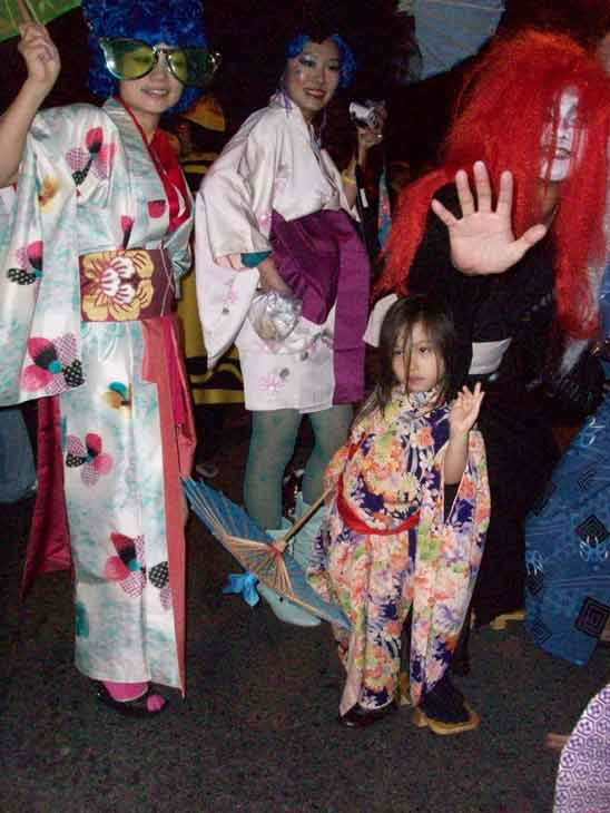 A group visiting from Japan, including 4-year-old Shise, attended the West Hollywood Halloween Costume Carnaval on Oct. 31, 2011. This year&#39;s theme was &#39;Become Your Other.&#39; <span class=meta>(KABC Photo&#47; Vicki Gonzalez)</span>