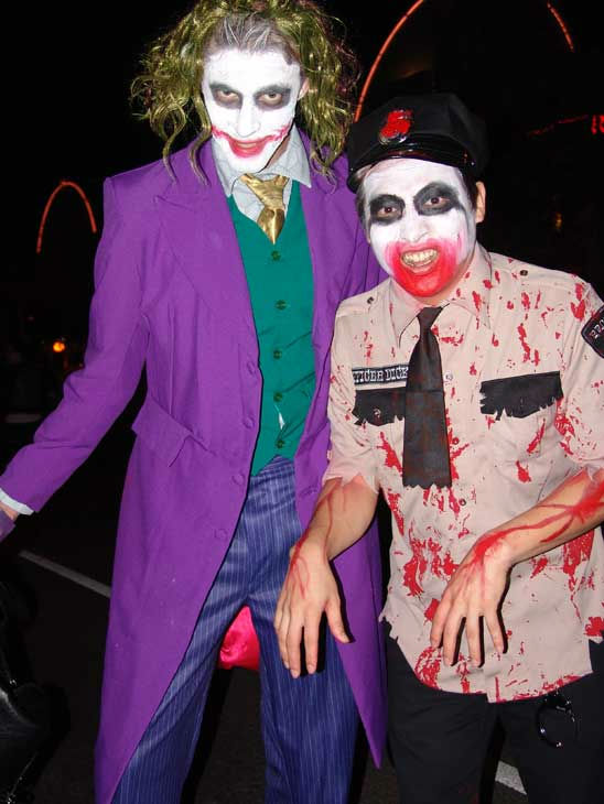 William Le Caron from France and Hokyu from Korea attended the West Hollywood Halloween Costume Carnaval on Oct. 31, 2011. This year&#39;s theme was &#39;Become Your Other.&#39; <span class=meta>(KABC Photo&#47; Vicki Gonzalez)</span>