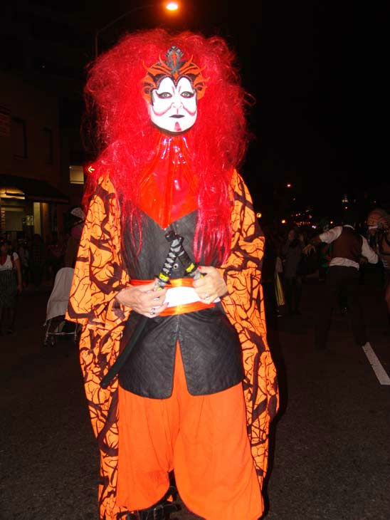 West Hollywood resident Bryan Jordan attended the West Hollywood Halloween Costume Carnaval on Oct. 31, 2011. This year&#39;s theme was &#39;Become Your Other.&#39; <span class=meta>(KABC Photo&#47; Vicki Gonzalez)</span>