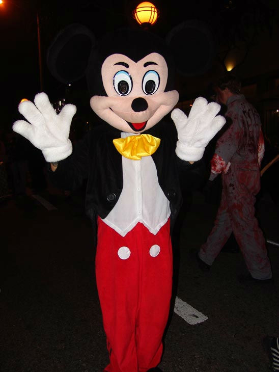 A person dressed as Mickey Mouse attended the West Hollywood Halloween Costume Carnaval on Oct. 31, 2011. This year&#39;s theme was &#39;Become Your Other.&#39; <span class=meta>(KABC Photo&#47; Vicki Gonzalez)</span>