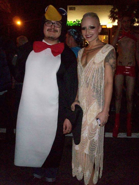 Matt Reyes and Harlow von Brethern from L.A. attended the West Hollywood Halloween Costume Carnaval on Oct. 31, 2011. This year&#39;s theme was &#39;Become Your Other.&#39; <span class=meta>(KABC Photo&#47; Vicki Gonzalez)</span>