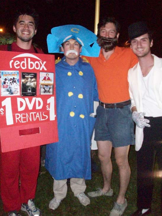 Craig Dewey, Ryan Moriarty, Alex Seymour and Trevor White from L.A. attended the West Hollywood Halloween Costume Carnaval on Oct. 31, 2011. This year&#39;s theme was &#39;Become Your Other.&#39; <span class=meta>(KABC Photo&#47; Vicki Gonzalez)</span>