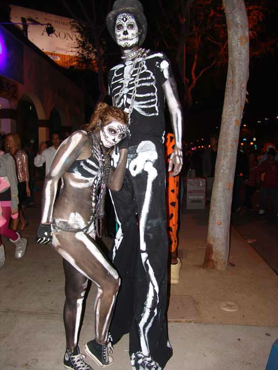 John and Christine from San Francisco attended the West Hollywood Halloween Costume Carnaval on Oct. 31, 2011. This year&#39;s theme was &#39;Become Your Other.&#39; <span class=meta>(KABC Photo&#47; Vicki Gonzalez)</span>