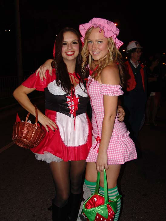 Sophia Ramos from Santa Barbara and Roxanne Jaeckel from Long Beach attended the West Hollywood Halloween Costume Carnaval on Oct. 31, 2011. This year&#39;s theme was &#39;Become Your Other.&#39; <span class=meta>(KABC Photo&#47; Vicki Gonzalez)</span>