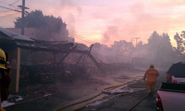 ABC7 viewer Edgar Ortega sent in this photo of the aftermath of the Whittier carport fire. &#160;When you witness breaking news happen, send your photos to video@myabc7.com, or send them to @abc7 on Twitter  <span class=meta>(ABC7 viewer Edgar Ortega)</span>