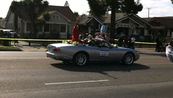 Congresswoman Janice Hahn participates in the 27th annual Kingdom Day Parade in South Los Angeles on Monday Jan. 16, 2012.  <span class=meta>(KABC Photo)</span>