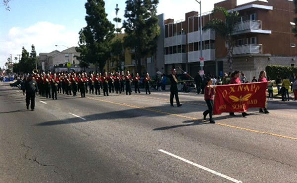 Oxnard High participates in the 27th annual Kingdom Day Parade in South Los Angeles on Monday Jan. 16, 2012.  <span class=meta>(KABC Photo)</span>