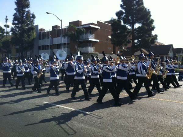 The RACM marching band participates in the 27th annual Kingdom Day Parade in South Los Angeles on Monday Jan. 16, 2012. <span class=meta>(KABC Photo)</span>