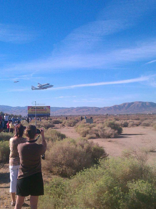 ABC7 viewer Jerry Garcia took this photo of space shuttle Endeavour flying over Palmdale on Friday, Sept. 21, 2012.