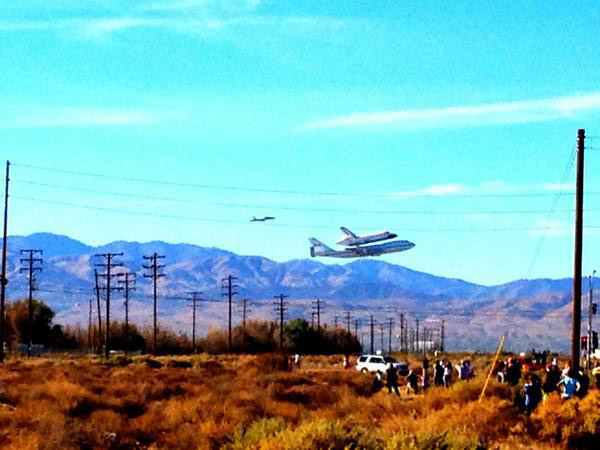 ABC7 viewer Trent Vierra took this photo of space shuttle Endeavour flying over the Antelope Valley on Friday, Sept. 21, 2012. &#160;Send us your shuttle pictures and video to video@abc7.com or post them to the ABC7 Facebook page. You can also Tweet us @abc7 with #SpotTheShuttle. <span class=meta>(ABC7 viewer Trent Vierra)</span>