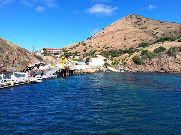 This July 2012 photo shows Fisherman&#39;s Cove off Catalina Island, home to USC&#39;s Wrigley Marine Science Center, where a local team of shark researchers and computer scientists are making breakthroughs in shark research. <span class=meta>(KABC &#47; Lisa Bartley)</span>