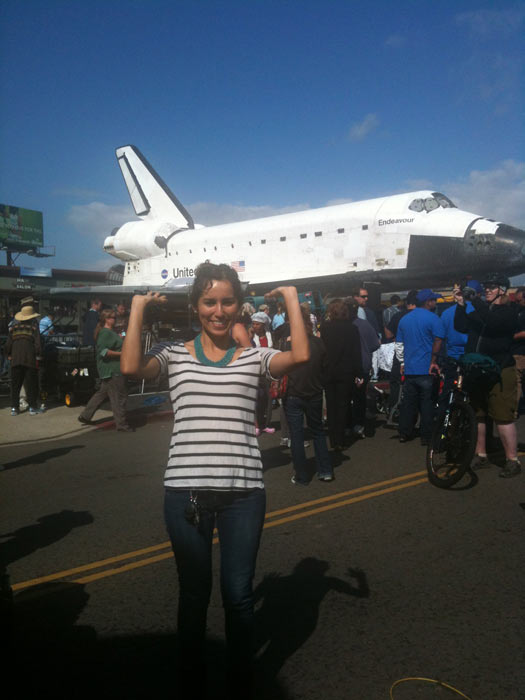 ABC7 viewer David Arias took this picture of space shuttle Endeavour on Friday, Oct. 12, 2012. &#160;Send us your shuttle pictures and video to video@abc7.com or post them to the ABC7 Facebook page. You can also Tweet us @abc7 with #SpotTheShuttle. <span class=meta>(ABC7 viewer David Arias)</span>