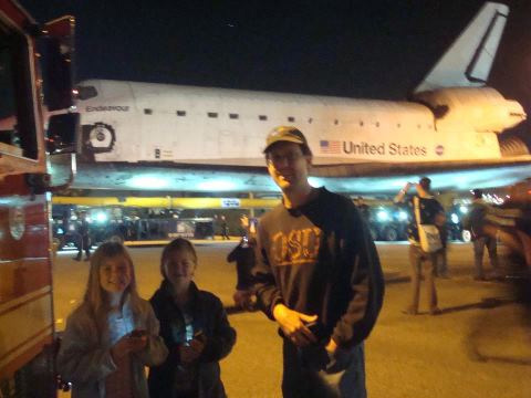 ABC7 viewer Joanne Keene Hall posted this photo on our Facebook page of space shuttle Endeavour on Friday, Oct. 12, 2012.
