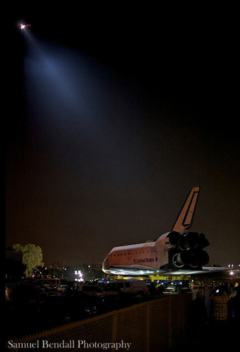ABC7 viewer Samuel Bendall took this picture of space shuttle Endeavour on Friday, Oct. 12, 2012. &#160;Send us your shuttle pictures and video to video@abc7.com or post them to the ABC7 Facebook page. You can also Tweet us @abc7 with #SpotTheShuttle. <span class=meta>(ABC7 viewer Samuel Bendall)</span>