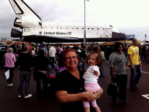 ABC7 viewer Jen Carrillo-Hurt posted this photo on our Facebook page of the space shuttle Endeavour on Friday, Oct. 12, 2012. &#160;Send us your shuttle pictures and video to video@abc7.com or post them to the ABC7 Facebook page. You can also Tweet us @abc7 with #SpotTheShuttle. <span class=meta>(ABC7 viewer Jen Carrillo-Hurt)</span>
