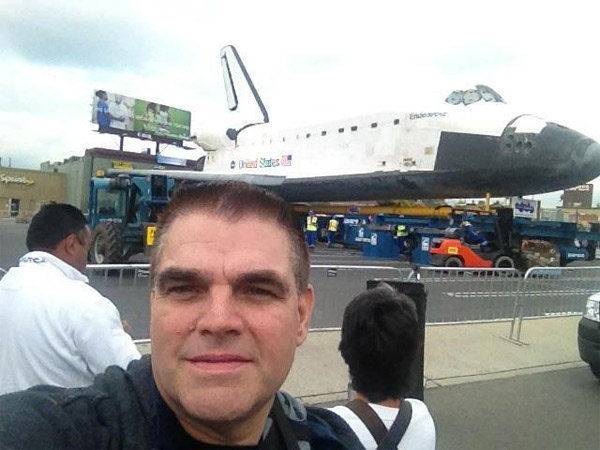 ABC7 viewer Darius Anthony Taghavi took this picture of space shuttle Endeavour on Friday, Oct. 12, 2012. &#160;Send us your shuttle pictures and video to video@abc7.com or post them to the ABC7 Facebook page. You can also Tweet us @abc7 with #SpotTheShuttle. <span class=meta>(ABC7 viewer Darius Anthony Taghavi)</span>
